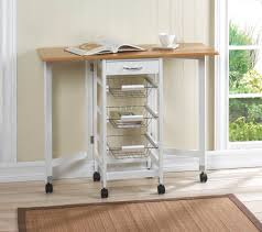 Folding Kitchen Cart by Space Saving Folding Mobile Kitchen Bar Wire Basket Storage Cart