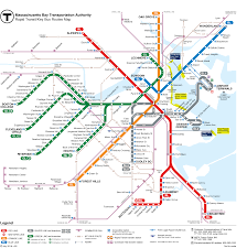 Boston On Map by Sail Boston And The T