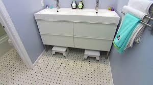 stunning boys bathroom ideas with colorful duck schemes wall
