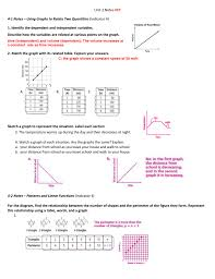 unit 2 notes key 4 1 notes u2013 using graphs to relate two