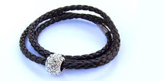 leather bracelet swarovski images Leather bracelet with swarovski elements black jpg