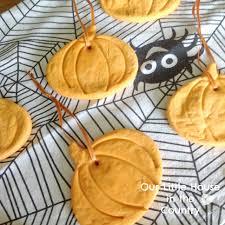 cornstarch cornflour dough pumpkin hanging decorations our