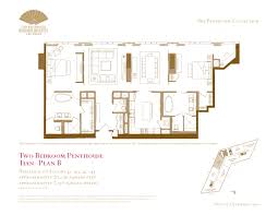two bedroom penthouse floor plans the mandarin oriental las vegas