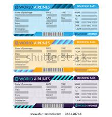 airline boarding pass ticket template detailed stock vector