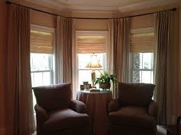 Ceiling Hung Curtain Poles Ideas Astonishing Five Sided Bay Window Curtain Pole And Curtains For
