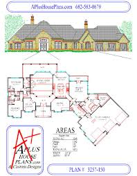 One Story Floor Plans by House Plan 3257 150 Country French Front Elevation 3257 Sqft