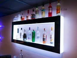 led lighted wall shelves