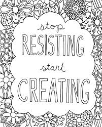 coloring book page download stop resisting start creating free