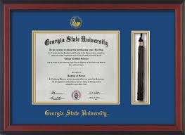 14x17 diploma frame gsu diploma frame cherry w gsu seal tassel royal blue on