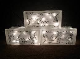 lighted live laugh glass block decorative l gift decor