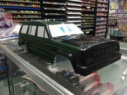 matte white jeep scale rock crawling bodyshell painting with matte finish bonnet
