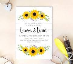 sunflower wedding invitations sunflower wedding invitation wreath wedding invitation printed