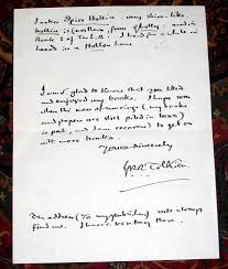 000511 a hand written letter from j r r tolkien with hand