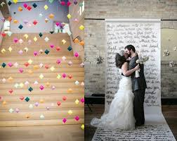 wedding backdrop garland 20 great diy wedding backdrop ideas design sponge