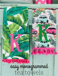 Inexpensive Hostess Gifts Easy Customized Hostess Gifts Monogrammed Tea Towels U2014 Kingston