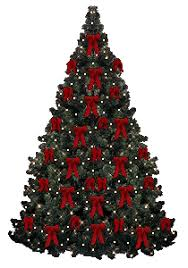 christmas tree with white lights and red bows christmas tree clipart free holiday graphics