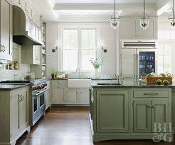 green lower white kitchen cabinets low cost cabinet makeovers better homes gardens