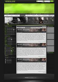 foreign games template psd layered material website templates