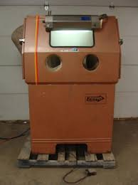 Used Blast Cabinet Used Zero Glass Bead Blasting Cabinet Model 55 6 300r Df 24