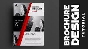 How To Design Brochure In Photoshop Cs6 Red Professional