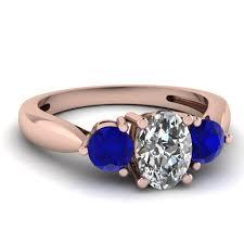 rose gold amethyst diamond ring rose gold oval white diamond engagement wedding ring blue sapphire