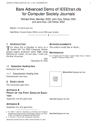 latex templates academic journals
