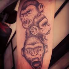 tattoo for biceps monkey tattoos tattoo design and ideas