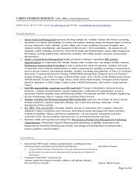 Venture Capital Resume Larry C Burgess Resume Performance Improvement Executive