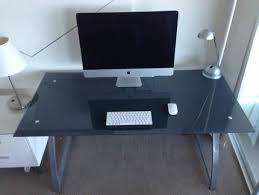 Glass Computer Desk Australia Computer Office Desk Metal Glass Modern Desks Gumtree