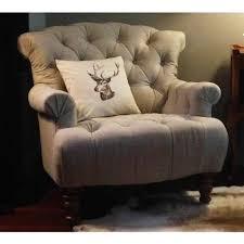 Armchairs Buttoned Linen Deep Armchair Luxury Armchair