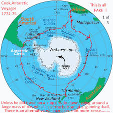 map of eart cook antarctic flat earth flat earther