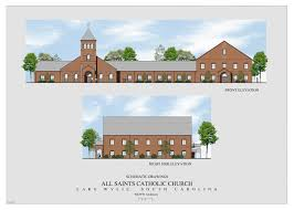 Catholic Church Floor Plans All Saints Lake Wylie New Parish Life Center U2013 Schematic Drawings