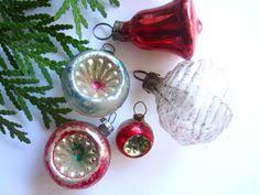 3 vintage bohemian mercury glass beaded acorns ornaments