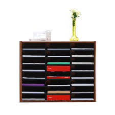 Wood Desk Organizers And Accessories by Concepts In Wood Dry Oak Literature Organizer Lo24 Pd The Home Depot