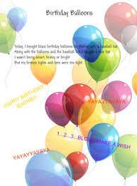 large birthday balloons alliteration birthday balloons poem text images