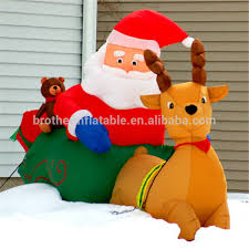 Outdoor Christmas Decorations Big Lots by Inflatable Father Christmas Santa Claus Ice Jam Big Lots Christmas