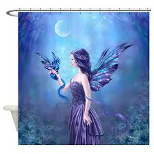 amazon com cafepress iridescent fairy and dragon art