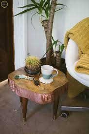 Tree Stump Side Table Diy Boho Tree Stump Side Table Zest It Up