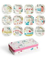 rosanna 12 days of appetizer plates set of 12 for