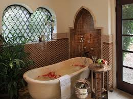 Moroccan Bathroom Vanity by Spanish Colonial Style In This Lavish Bathroom Style Pavoreal