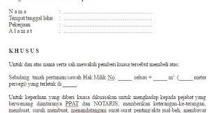 format surat kuasa jual beli rumah contoh dan format surat kuasa jual beli tanah kebun dan sawah file