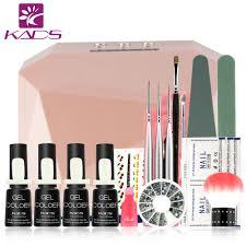 36w led u0026uv lamp french manicure kit 4 colors sapphire uv gel nail