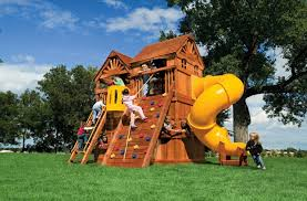 Swing Sets For Small Backyard by Small Yard Play Structures Swing Set Rainbow Systems