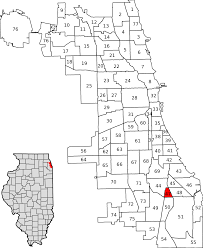 Map Of City Of Chicago by Burnside Chicago Wikipedia