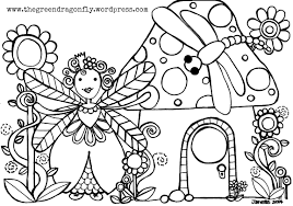 coloring sheet u2013 the green dragonfly