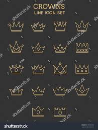 Monarch Design by Crown Line Icon Set Design Royal Stock Vector 287804858 Shutterstock