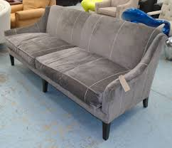 Russell Pinch Sofa Moreau Sofa By Russell Pinch With A Hump Back And Grey Velvet