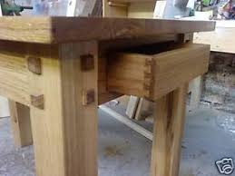 Handmade Kitchen Table Bespoke Handmade Oak Dining Kitchen Table Ebay