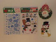 Holographic Christmas Window Decorations by Vinyl Stickers Decals Window Decorations Ebay