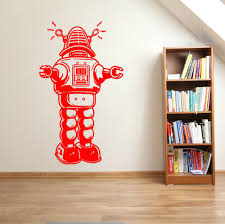 compare prices on robot wall decals online shopping buy low price self adhesive vinyl wall stickers retro bedroom decoration robot vintage old style wall decals removable wallpaper
